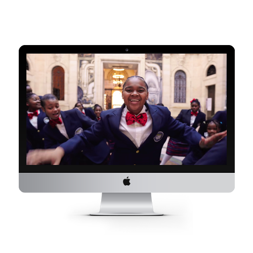 One Nation Under A Groove video screenshot on Apple monitor